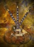 Guitare flamboyante illustration libre de droits