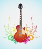 Guitare florale Photos libres de droits