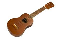 Guitare hawaïenne, ukulele d'isolement Photographie stock libre de droits