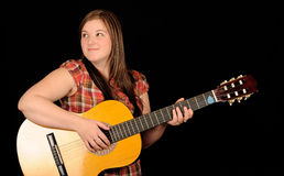 guitare jouant la femme photos libres de droits