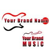 Guitare - logo compay de musique, Images libres de droits