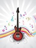Guitare musicale abstraite avec l'onde Image libre de droits