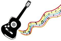 Guitare noire illustration de vecteur