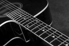 Guitare noire Photos libres de droits