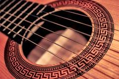 Guitare - plan rapproché Photographie stock