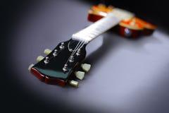 Guitare rouge électrique Photographie stock