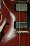 Guitare rouge photos libres de droits
