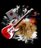Guitare rouge illustration stock