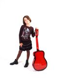 Guitare rouge Photographie stock libre de droits