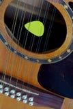guitare 12-string électroacoustique, et sélection image libre de droits