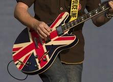 Guitare sur l'étape Photos stock
