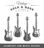 Guitares électriques Photo stock