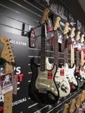 Guitares électriques de Stratocaster d'amortisseur Photographie stock libre de droits
