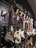 Guitares électriques de Stratocaster d'amortisseur Image libre de droits