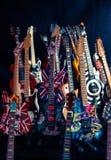Guitares électriques miniatures Images libres de droits