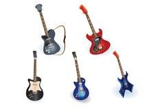 Guitares électriques réglées Image stock