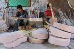 Guitares acoustiques Images libres de droits