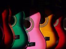 Guitares colorées Photo stock