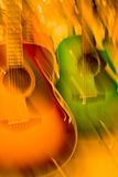Guitares de couleur Image stock