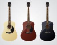 Guitares de vecteur Images stock