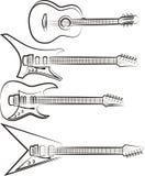Guitares - ensemble de vecteur Images libres de droits
