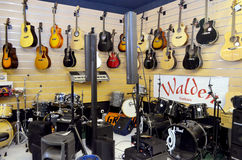 Guitares et intruments  Image stock