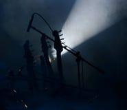 Guitares sur l'étape Photos libres de droits