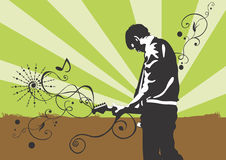 Guitarist. Illustration of a man playing guitar Royalty Free Stock Photography