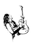 The Guitarist. The Illustration of the Guitarist Royalty Free Stock Image