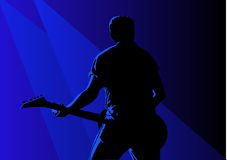 Guitarist. Vector illustration of a guitarist in action Stock Photography