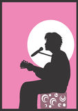 Guitarist. A illustration of a man playing guitar vector illustration