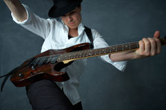 The guitarist Royalty Free Stock Photography