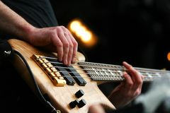 Guitarist in action Royalty Free Stock Image