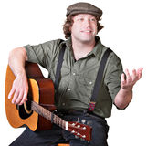 Guitarist with Arm Extended Stock Image