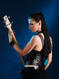Guitarist from back Stock Images