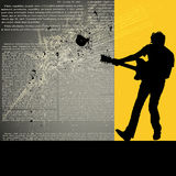 Guitarist background Stock Photos