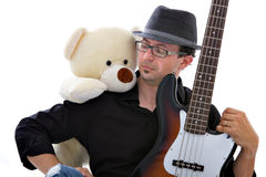 Guitarist and band Royalty Free Stock Photo