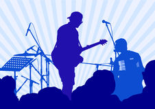 Guitarist and crowd Royalty Free Stock Photography