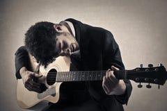 A guitarist Stock Photo