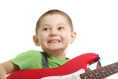 Guitarist emotions Royalty Free Stock Image