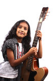 Guitarist Girl Stock Photo