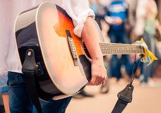 Guitarist with guitar Royalty Free Stock Images