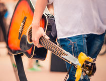 Guitarist with guitar Stock Image