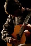 Guitarist. Guitar playing Stock Photos