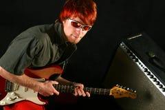 Guitarist with his guitar Stock Photos