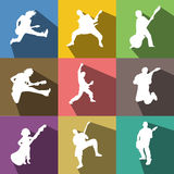 Guitarist icons Stock Image