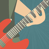 Guitarist illustration Stock Images