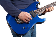 Guitarist isolated Royalty Free Stock Photos