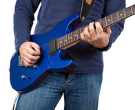Guitarist isolated Stock Photo