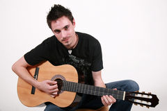 guitarist jon young Στοκ φωτογραφία με δικαίωμα ελεύθερης χρήσης